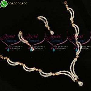 Two Tone Necklace Latest Diamond Design Jewellery Collections Online