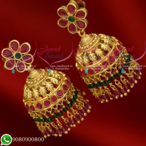 Jhumkas Gold Plated New Design Crystal Jewellery Collections