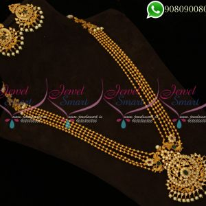 Long Necklace Traditional Designs South Indian Jewellery Matte Finish Online