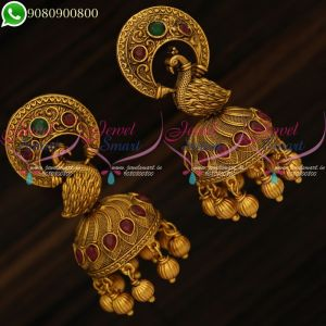 Peacock Jhumki Earrings Latest Antique Fashion Jewellery Designs
