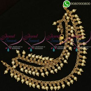 Anklets Payal Polki Stones Pearl Danglers Fashion Jewellery Designs