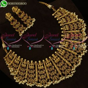 Temple Jewellery Beautiful Traditional Layer Necklace Bridal Designs Online