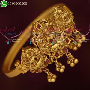 Temple Jewellery Kada Bracelet Matte Gold Plated Traditional Designs
