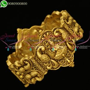 Temple Jewellery Laxmi God Design Kada Bangle Antique Screw Open