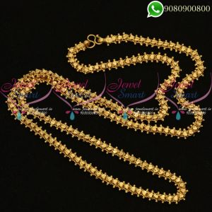 Gold Plated 30 Inches Chain Daily Wear South Indian Jewellery Online
