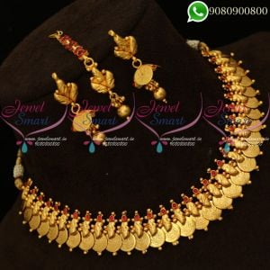 Laxmi Coin Necklace Temple Jewellery Traditional Design Collections