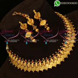 Laxmi Coin Necklace Temple Jewellery South Indian Designs