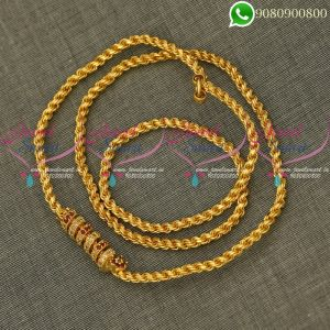 Murukku Kodi Mugappu Chains Spiral Model South Jewellery Online