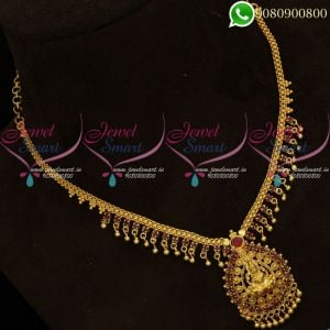 Gold Plated Necklace Temple Jewellery Designs Low Price Online