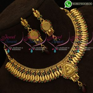 Temple Jewellery Traditional Necklace Antique Kerala Style Online