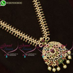 Long Necklace Wedding Jewellery Haaram South Indian Designs Online