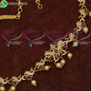 South Indian Kamarband American Diamond Bridal Jewellery Hip Chains Online