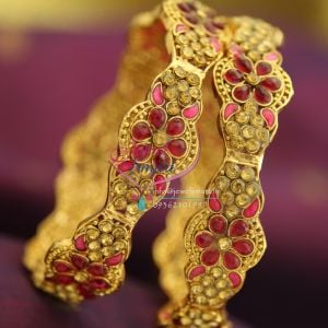 dark-pink-polki-meenakari-brass-metal-handwork-antique-gold-plated-bangles