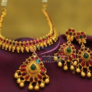 south-indian-traditional-gold-design-color-stones-mango-jewellery-necklace-set-online