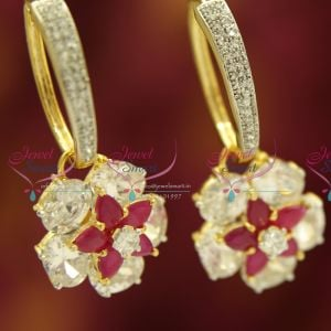 fancy-fashion-american-diamond-cz-ring--colour-painted-stone-danglers-grand-dazzling-jewllery