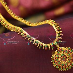 beads-design-gold-plated-ruby-emerald-south-indian-haram-quality-fashion-jewellery-low-price-buy-online