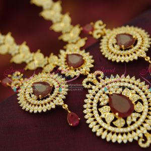 traditional-mango-design-round-pendant-long-haram-gold-plated-fine-jewellery-online