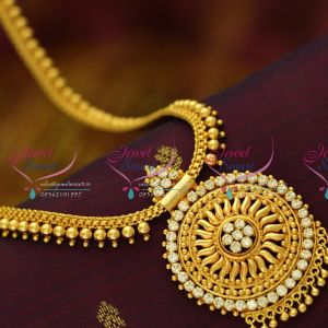 ruby-emerald-flat-chain-design-gold-plated-haram-quality-fashion-jewellery-low-price-buy-online