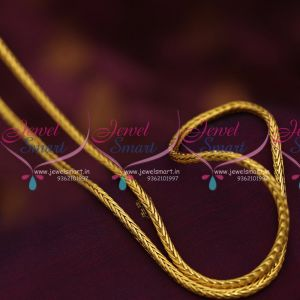 C07033 Traditional Gold Design Daily Wear Chain 30 Roll Thali  Kodi 5 MM Online