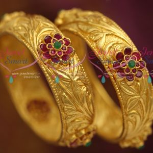 one-gram-gold-plated-nakshi-nagas-ruby-emerald-grand-bangles-buy-shop-online