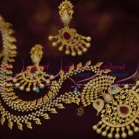 peacock-cz-ruby-one-gram-gold-plated-haram-long-necklace-fashion-jewellery-buy-online