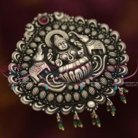 nagas-92.5-Silver-oxidised-finish-handmade-pendant-temple-jewellery-showroom-online