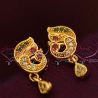 gold-plated-screwback-ruby-emerald-earrings-buy-online-south-indian-traditional-jewellery
