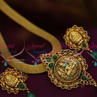 antique-gold-plated-nagas-nakshi-temple-jewellery-flat-chain-pendant-earrings