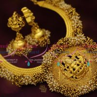 pearl-gold-bead-danglers-traditional-temple-imitation-jewellery-necklace-jhumka-earrings