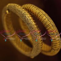 double-design-antique-gold-screw-open-kada-bangles-nakshi-handwork-bracelets