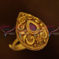 new-floral-nakshi-antique-matte-gold-reddish-finish-adjustable-finger-rings-buy-online-latest-designs