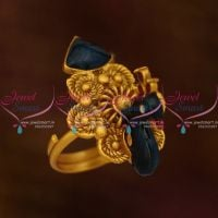 peacock-emboss-blue-antique-matte-meenakari-reddish-finish-adjustable-finger-rings-buy-online-latest-designs