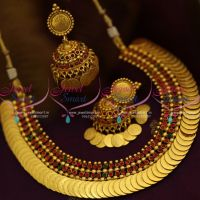 latest-traditional-gold-design-kasumala-necklace-jhumka-earrings-coin-drops-online