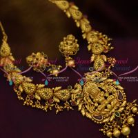 antique-one-gram-gold-traditional-south-temple-laxmi-god-jewellery-handmade-necklace-set-online