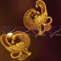 peacock-exclusive-mat-gold-finish-nakshi-antique-imitation-earrings-buy-online