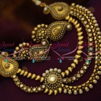 pearl-multi-strand-mango-necklace-side-kundan-pendant-antique-plated-fashion-jewelry-online
