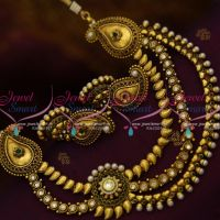 red-green-mango-necklace-side-kundan-pendant-antique-plated-fashion-jewelry-online