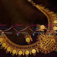 reddish-yellow-gold-plated-temple-coin-necklace-traditional-south-indian-collections