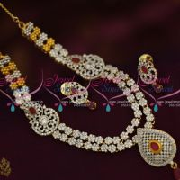 ruby-exculsive-multi-strand-white-cz-short-necklace-diamond-finish-jewellery-two-tone-colour