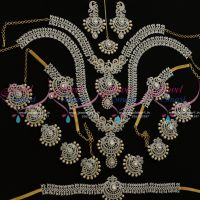 diamond-finish-two-tone-gold-silver-full-bridal-dulhan-wedding-jewellery-set