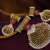latest-fusion-chain-ruby-designer-jewellery-collections-pendant-set-gold-imitation-collections