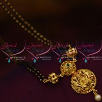 17-inches-temple-gold-plated-mangalsutra-black-beads-mala-indian-auspicious-jewellery