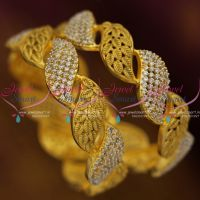 antique-matte-gold-plated-broad-2-pieces-set-bangles-latest-fusion-jewellery-online