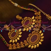 temple-jewellery-matte-finish-imitation-necklace-maangtikka-clearance-Sale-online