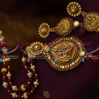 beaded-temple-jewellery-red-white-oval-pearls-antique-gold-plated-nakshi-god-pendant