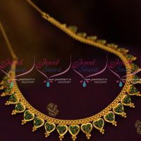 emerald-simple-design-chain-necklace-gold-plated-imitation-jewellery-latest