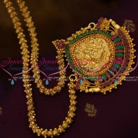 ruby-emerald-one-gram-gold-plated-south-indian-chain-pendant-temple-nagas-traditional-jewellery