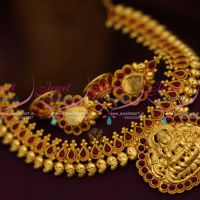 reddish-yellow-gold-plated-temple-coin-laxmi-god-traditional-necklace-online-collections