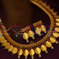 reddish-yellow-gold-plated-temple-coin-laxmi-god-traditional-long-necklace-online
