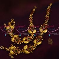 leaf-floral-design-handmade-kemp-fancy-earchains-south-indian-ear-mattal-gold-plated